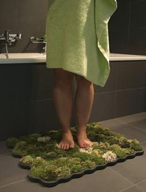 green your bathroom with a moss mat Green Your Bathroom with a Moss Mat